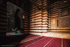 Mosque-Madrassa of Sultan Hassan - Ablaq entrance to the Mosque-Madrasa of Sultan Hassan in Cairo.