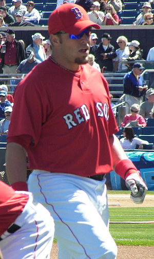 Eric Hinske - Hinske during his tenure with the Boston Red Sox in spring 2007.