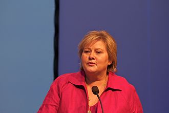 Politics of Norway - Erna Solberg, Prime Minister of Norway (2013-) and leader of the Conservative Party.