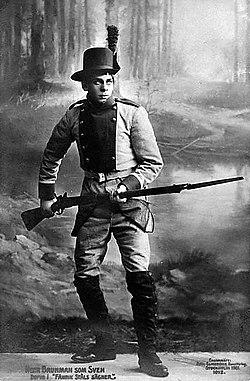 Som Sven-Due i Fænriks Ståls sagn 1913
