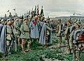 Ernst Zimmer - Der Kaiser verleiht den Helden von Nowo-Georgiewsk das Eiserne Kreuz, 1915.jpg
