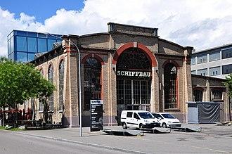 Escher Wyss & Cie. - Escher Wyss's former Schiffbau or shipbuilding hall in Zürich now functions as a cultural centre.