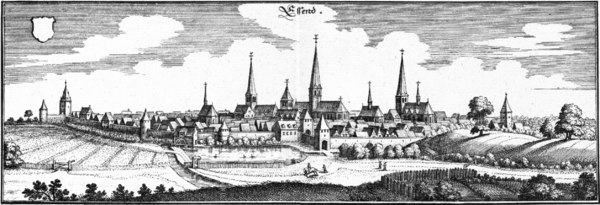 Essen on an engraving from 1647