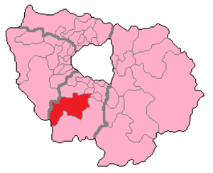 Essonne's 3rd constituency - Essonne's 3rd Constituency shown within Île-de-France.