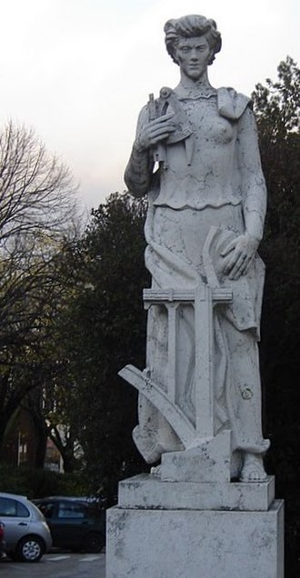 Instituto Superior Técnico - Statue with initiatic purposes on the campus of Alameda in Lisbon
