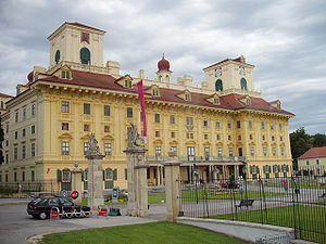 Upper nobility (Kingdom of Hungary) - The Esterházy Palace in Kismarton (today Eisenstadt in Austria) - a seat of the wealthiest aristocratic family of the Kingdom of Hungary