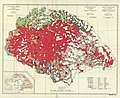 Ethnographical map of Hungary based on density of population, Census of 1910.jpg