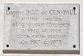 Eugène Paul dit Gen-Paul plaque - 2 Impasse Giradon, Paris 18.jpg