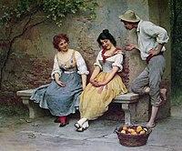 Eugen de Blaas The Flirtation.jpg