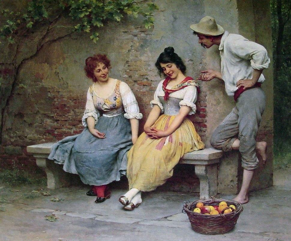 Eugen de Blaas The Flirtation