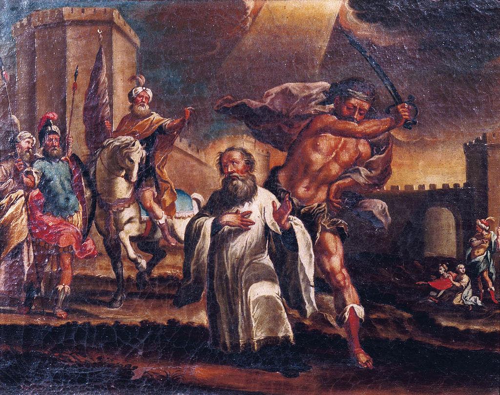 Den hellige Eulogius av Córdobas martyrium, ukjent maler på 1600-t, i katedralen i Córdoba