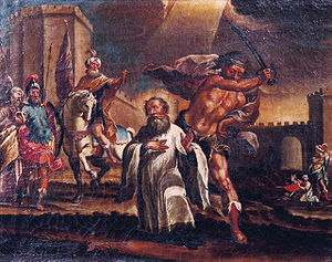 Eulogius of Córdoba - The Martyrdom of Saint Eulogius of Cordova, at Cordova Cathedral, by an unknown artist of the 17th century.