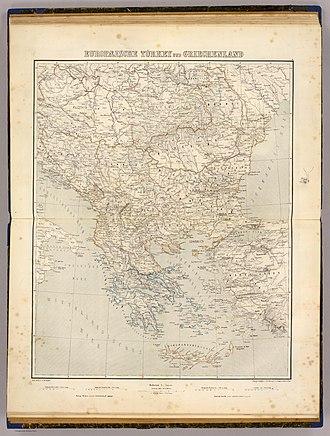 Eyalet - Image: Europaeische Turkey und Griechenland. Zum Atlas v. J.M. Ziegler. Topogr. Anstalt v. Joh. Wurster u. Comp. in Winterthur. (1864)