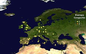European Geoparks Network - European Geoparks map