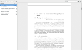 Evince 3.12 affichant un document PDF
