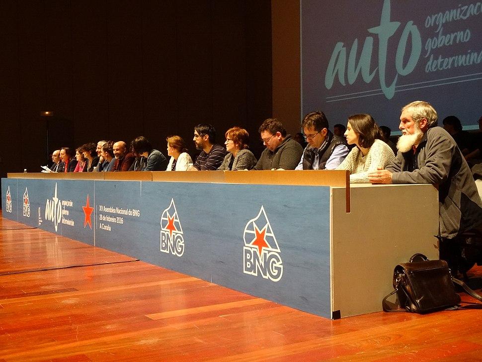 Executiva Nacional, XV Asemblea Nacional Bloque Nacionalista Galego 11