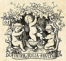 Otto Jahns Exlibris (Quelle: Wikimedia)
