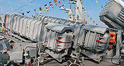 Two MM38 Exocet missiles on board German Navy S78 Ozelot, Type 143A Gepard class fast attack craft