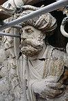 exterieur timpaan, beeldhouwwerk, detail - leiden - 20263131 - rce