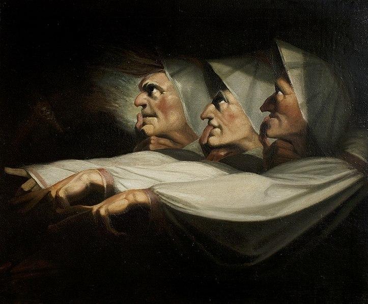 File:Füssli - 'Macbeth', Act I, Scene 3, the Weird Sisters, c.1783.jpg