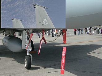 Mitsubishi F-15J - An ECM antenna position of Mitsubishi F-15J MSIP (2005)