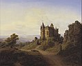 F. Sødring - Slottet Büresheim ved Eifelfloden - KMS345 - Statens Museum for Kunst.jpg