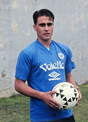 Fabio Cannavaro - A 17-year-old Cannavaro trains with the Napoli youth side