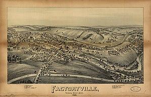 Factoryville, Pennsylvania - 1891 bird's-eye view of Factoryville