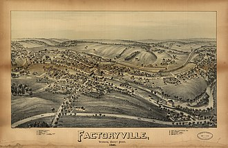 Factoryville, Pennsylvania - 1891 bird's-eye view of Factoryville