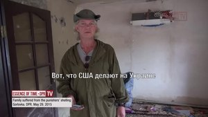 Файл:Family suffered from the punishers shelling. Gorlovka. DNR. Episode 475.webm