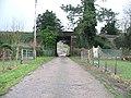Farm road under the railway - geograph.org.uk - 335560.jpg