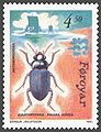 Faroe stamp 207 anthropochora - black beetle (Amara aulica).jpg