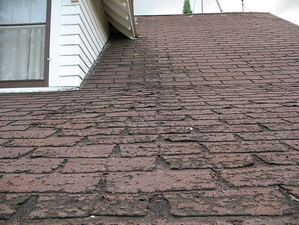Faster wear of asphalt shingles along eaves