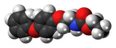 Space-filling model of the fenoxycarb molecule