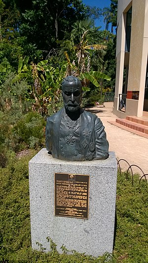 Ferdinand von Mueller - Bust of Mueller at the Royal Botanic Gardens, Melbourne.