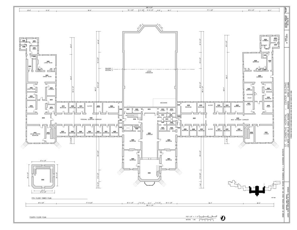 File fifth floor plan st elizabeths hospital center building 539 559 cedar drive southeast for Who designed the basic plan for washington dc