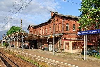 Halle–Cottbus railway - Finsterwalde station