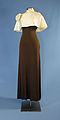 First Lady Betty Ford's brown gown with ivory cape.jpg