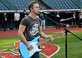Five-time Grammy nominee Hunter Hayes performs his national anthem soundcheck, hours before Game 6 of the World Series. (30716261695).jpg