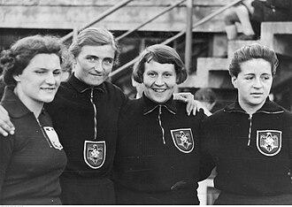 Gisela Mauermayer - Image: Flakowicz, Wanda. 1938 European Athletics Championships