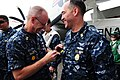 "Flickr - Official U.S. Navy Imagery - The otal Force Fleet Master Chief receives an ""I Like IKE"" pin..jpg"
