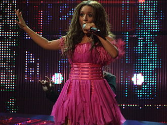 Greece in the Eurovision Song Contest 2008 - Kalomoira singing at the Eurovision Semi-final