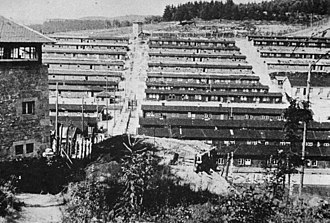 Flossenbürg concentration camp - General view of Flossenbürg concentration camp after liberation in April 1945