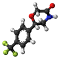 Flumetramide molecule ball.png