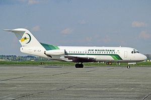 Air Mauritanie Flight 625 - The aircraft involved in the accident, seen in Rotterdam Airport in April 1991.