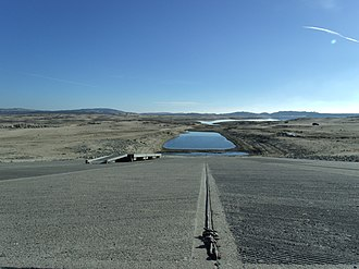 Droughts in California - Dry boat ramp at Folsom Lake, January 2014