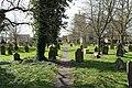 Footpath through Lakenheath churchyard.JPG