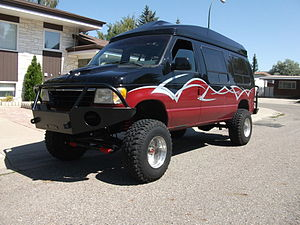 Ford Econoline with aftermarket 4x4 conversion.