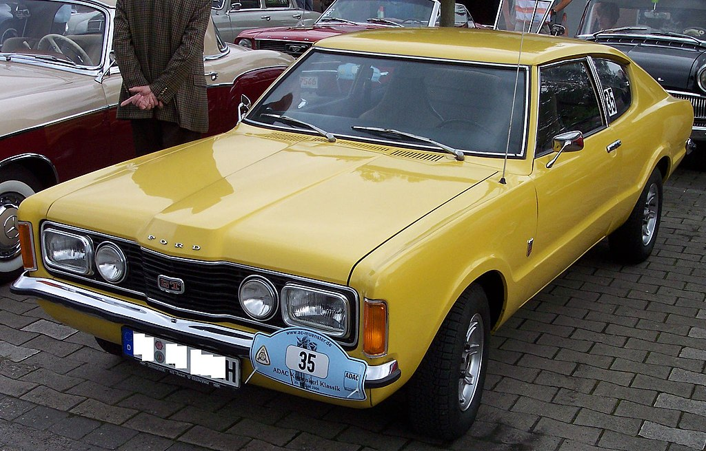 File:Ford Taunus Coupe 2.0 1972 yellow vl.jpg - Wikimedia Commons