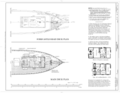 Forecastle Head Deck Plan, Main Deck Plan - Schooner C.A. THAYER, Hyde Street Pier, San Francisco, San Francisco County, CA HAER CAL,38-SANFRA,199- (sheet 10 of 38).png